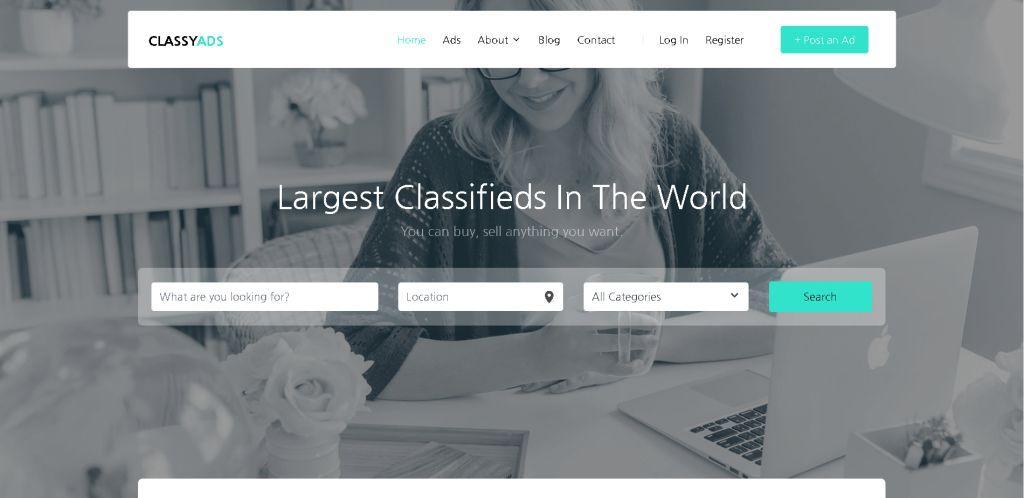 Classy ads WordPress Classified Theme
