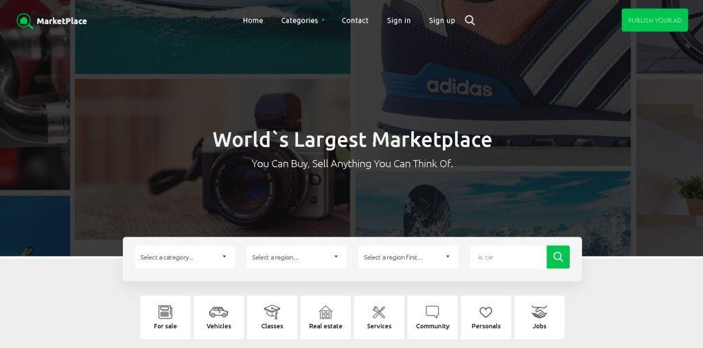 Marketplace Osclass Premium Theme